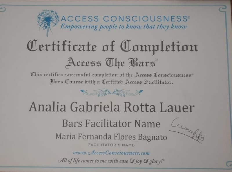 1er Clase de Barras Access Consciusness