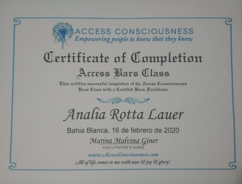 3er Clase de Barras Access Consciusness